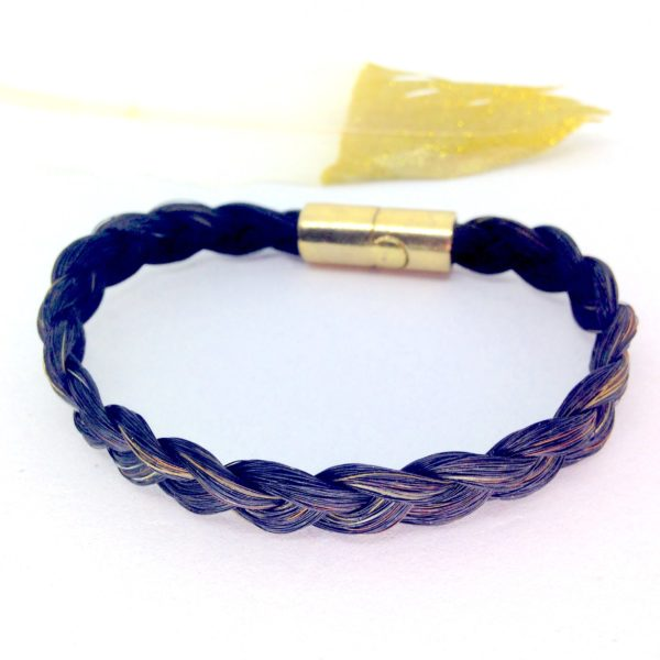 bracelet crin cheval molly malone simple doré