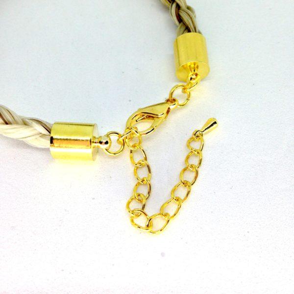 Bracelet crin de cheval plaqué or guccio détail