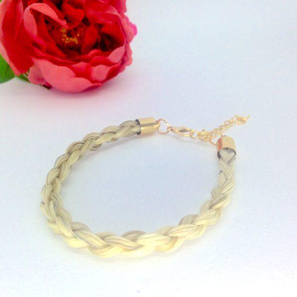 Bracelet en crin Toulago doré 3D