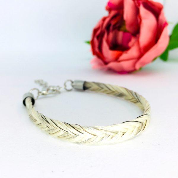 bracelet en crins tresse en épi