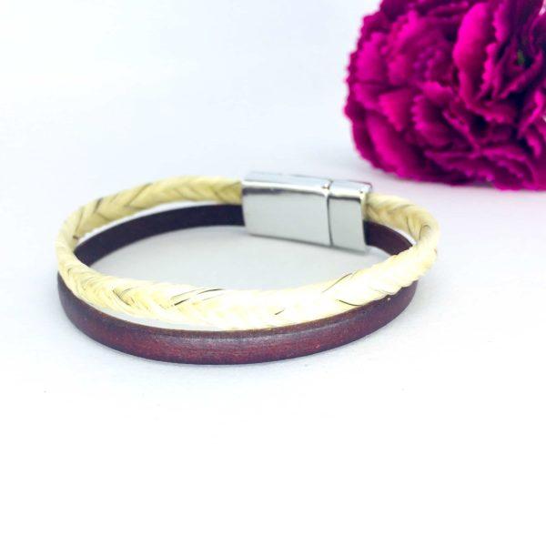 bracelet crin cheval avec cuir